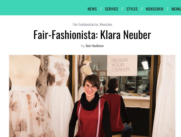 Fair-Fashionista: Klara Neuber